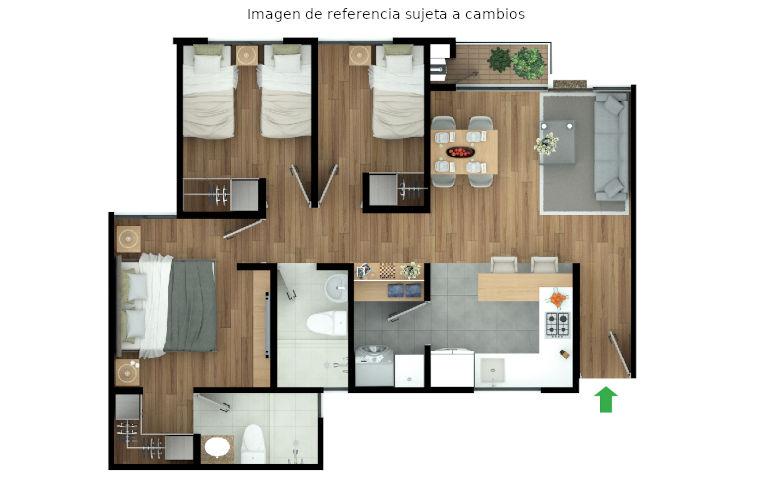 apartamento tipo b