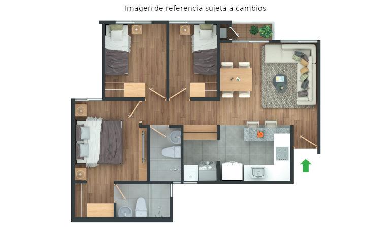 apartamento celeste medianero