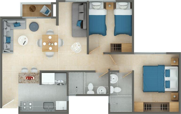 apartamento mañanitas medianero